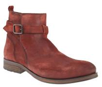 """Boots """"D2385ILLAN 13B"""", Leder, Used-Look, Schnalle, Braun"""