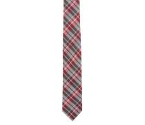 Krawatte, kariert, Seiden-Mischung