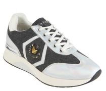Sneaker, Materialmix, Nieten-Details, Perlen-Optik, Weiß