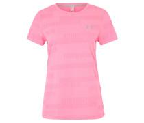 T-Shirt, HeatGear, Mesh-Muster, für Damen, Pink