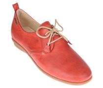 Schnürschuhe, Leder, Kordel-Schnürsenkel, Rot