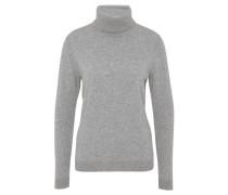 Pullover, Rollkragen, Wolle, Kaschmir-Anteil, Grau