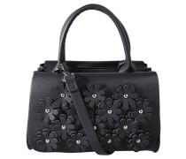 """Handtasche """"Tyra"""", Blütendekor, Nieten, Blau"""