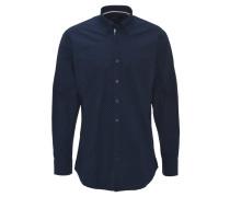 Freizeithemd, geometrisches Muster, Baumwolle, Blau