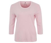 Shirt, 3/4-Ärmel, Nieten-Dekor, Baumwolle, Rosa