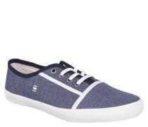 "Sneaker ""Kendo"", meliert, weiches Fußbett, Emblem, Blau"