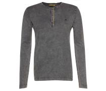 Langarmshirt, Henley-Stil, Vintage-Design, für Herren