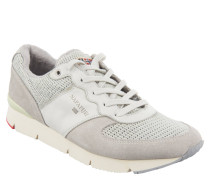"""Sneaker """"Marit"""", Mesh, Leder-Besatz, Profilsohle, Grau"""