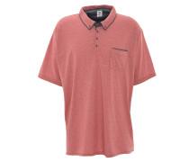 Poloshirt, Brusttasche, Button-Down-Kragen, Große Größen, Rot