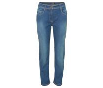 Jeans, slim fit, Five-Pocket-Stil, Kurzlänge