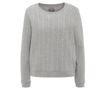 Pullover, strukturierte Oberfläche, weiter Schnitt, Grau
