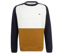 Sweatshirt, Piqué, Ripp-Abschlüsse, für Herren, Weiß