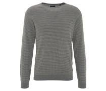 Pullover, Rundhalsausschnitt, reine Baumwolle, Grau