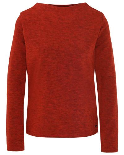 Pullover, Stehkragen, meliert, Knoten-Detail