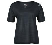 Fitness-Shirt, atmungsaktiv, transparent, für Damen, Schwarz
