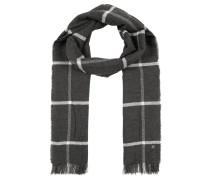 Schal, weicher Woll-Mix, Fransen, Karo-Design