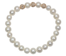 Perlen-Armband elastisch mit champagnerfarbenen Kristallen 7,0-8,0mm