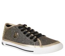 Sneaker, Glitzer, Emblem, Gold