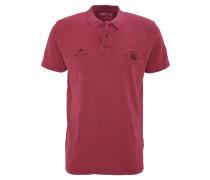 Polo-Shirt, Knopfleiste, Label-Logo, reine Baumwolle, Rot