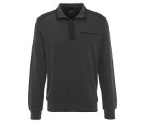 Sweatshirt, kontrastive Nähte, elastische Bündchen, Grau
