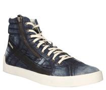 "Sneaker ""Indigo"", Mid, Denim, Blau"