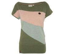 T-Shirt, Blockstreifen, elastisches Rippbündchen, Emblem