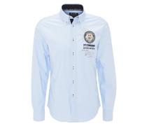 Hemd, Stickerei, Button-Down-Kragen