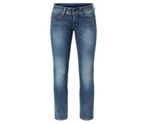 "Jeans ""Midge"", Straight Fit, Riegel am Bund"