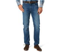 """Jeans-Hose """"Batu"""", Modern Fit, Kontrastnähte, Blau"""