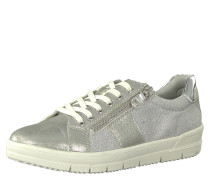 Sneaker low, Metallic-Look, Schnürung