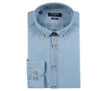 Hemd, Button-Down-Kragen, Modern-Fit, Blau