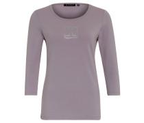 Shirt, 3/4-Ärmel, Baumwoll-Mix, Strass, Rosa
