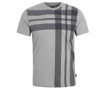 T-Shirt, Baumwolle, Print, Melange, Grau