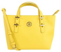 """Handtasche """"Prep"""", Saffiano-Optik, Emblem, Gelb"""