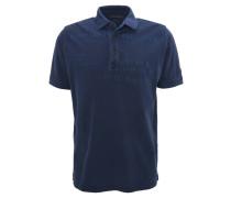 Poloshirt, Knopfleiste, Blau
