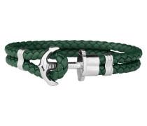 Ankerarmband PHREP IP Silber Grün 18 cm