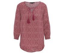 Bluse, Kordelzug, Ornament-Muster, Pink