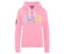 Sweatshirt, Logo-Print, Kapuze, Tasche, Pink