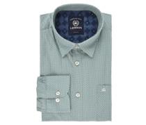 Hemd, gemustert, Brusttasche, Grün