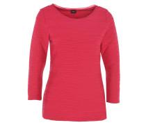 Shirt, 7/8-Arm, uni, Biesen-Muster, offener Saum