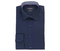 Businesshemd, Body Fit, Kent-Kragen, uni, Blau