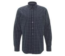 Freizeithemd, Modern Fit, Button-Down-Kragen, kariert, Blau