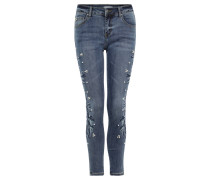 Jeans, Slim Fit, Stretch, Perlen, Strass