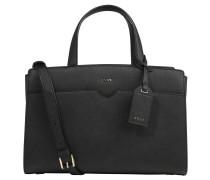 Handtasche, Magnetverschlüsse, Metall-Details, Schwarz
