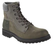 """Boots """"Carbur"""", Material-Mix, einfarbiges Design, Grün"""