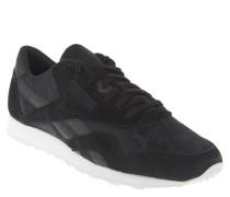 Sneaker, Materialmix, Camouflage-Look, Schwarz