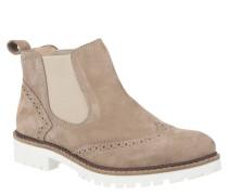 Chelsea Boots, Leder, Lyral-Lochung, Elasthan, Braun