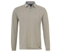 Poloshirt, Melange, Stretch-Anteil, Emblem, Beige