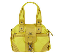 Handtasche, zweifarbig, Karabinerhaken
