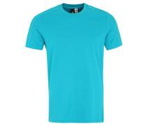 T-Shirt, Baumwolle, Recyclingfaser, für Herren, Türkis